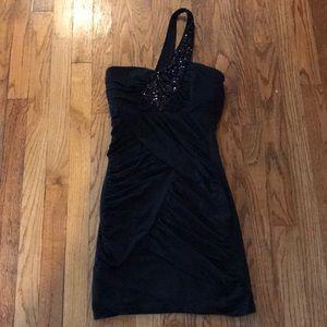 Black dress with black jewels